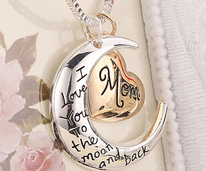 hart, moon, and necklace image