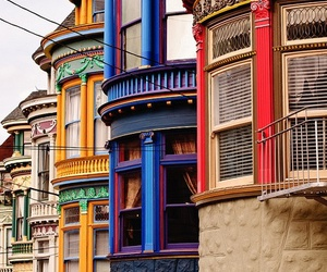 house, colorful, and building image