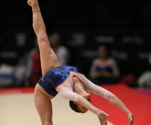 gymnast, gymnastics, and floor exercise image