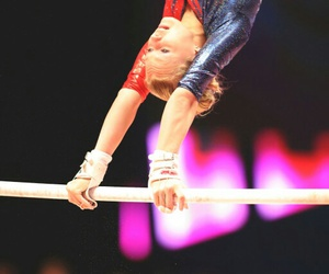 gymnast, gymnastics, and uneven bars image