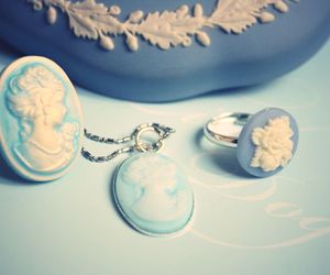 vintage, cameo, and jewelry image
