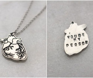 heart, necklace, and person image