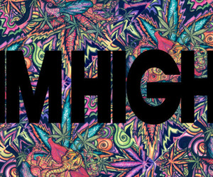 high, smoke, and weed image