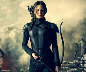 katniss, mockingjay, and hunger games image