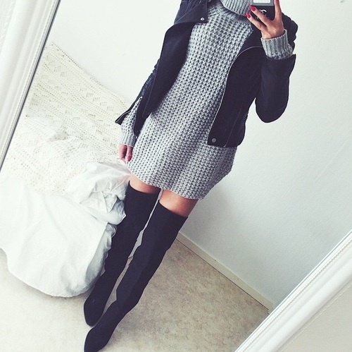 Botas Largas Vestido Uploaded By Little Jazz On We Heart It