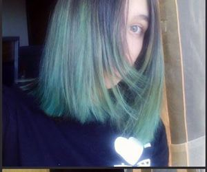 alternative, dyed hair, and goth image