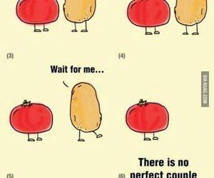 love, couple, and potato image