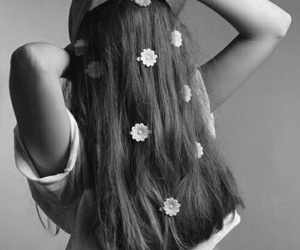 hair, flowers, and photography image