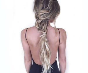 beautiful, hair style, and tan image
