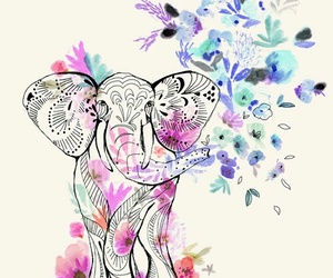 elephant, art, and draw image
