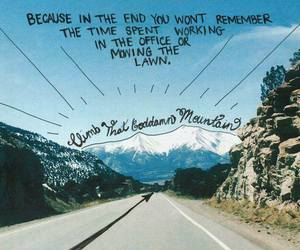mountains, travel, and quote image