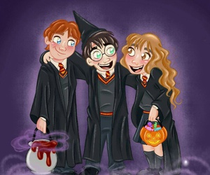 Halloween and harry potter image