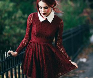 dress, red, and luanna perez image