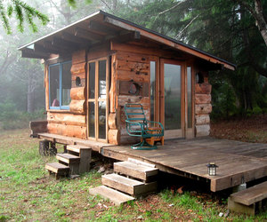 small house, tiny house, and wooden house image
