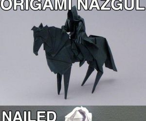 funny, origami, and nazgul image