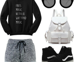 casual, monochrome, and outfit image