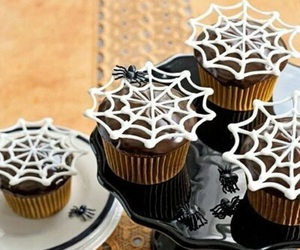 cupcakes, spider, and food image