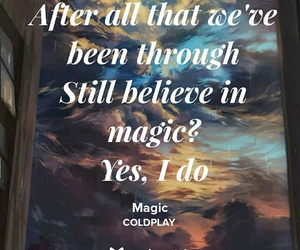 coldplay, magic, and music image