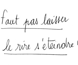 quote, french, and laugh image
