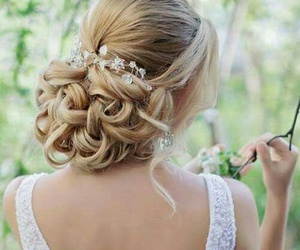 hairstyle, bride, and hair image