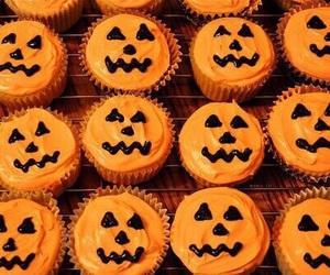 cupcakes, Halloween, and pumpkins image