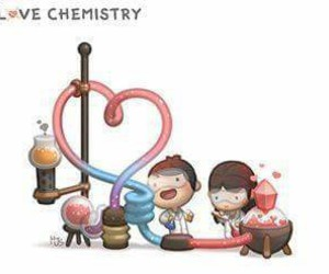 chemistry, science, and love image