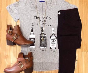 boots, jackdaniels, and jeans image