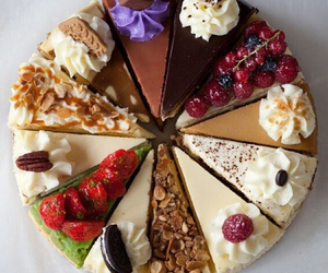 cake, delicious, and fruit image