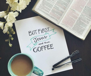 coffee and jesus image
