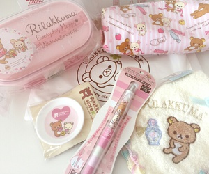 rilakkuma, kawaii, and pink image