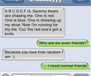 friends, crazy, and funny image