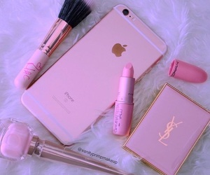 pink, iphone, and mac image
