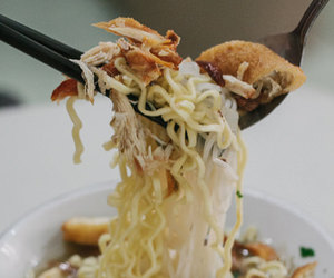 noodles, soup, and indonesian food image