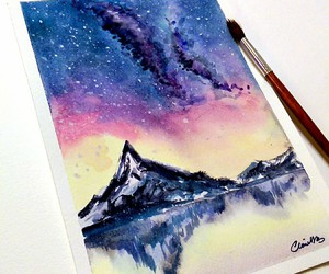 art and mountains image