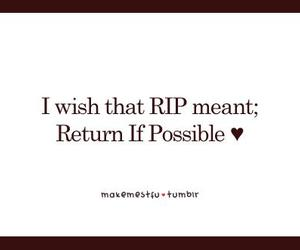 rip and words image