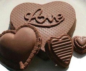 chocolate, love, and heart image