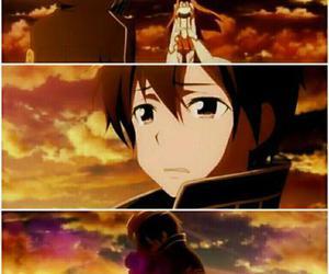 anime, couple, and asuna image