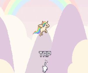 colors, kawaii, and unicorn image