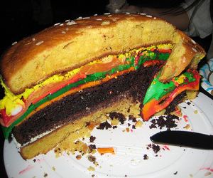burger, cake, and best cake ever image