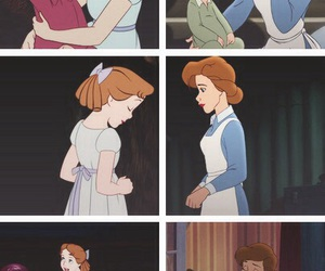 wendy, peter pan, and neverland image