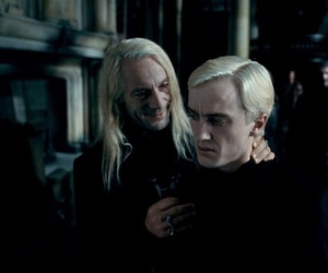 harry potter, lucius malfoy, and draco malfoy image