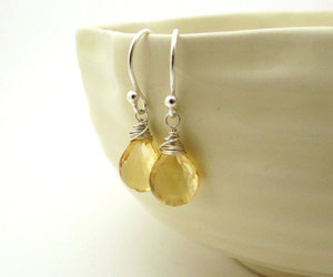 citrine, etsy, and jewelry image