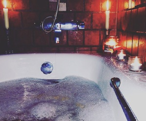 bath, bubbles, and candles image