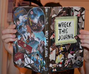harry potter, wreck this journal, and cool image