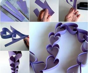 diy, heart, and purple image