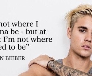 justin bieber and quote image
