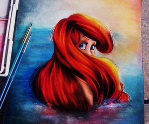 art, disney, and ariel image