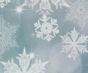 winter, snowflake, and wallpaper image
