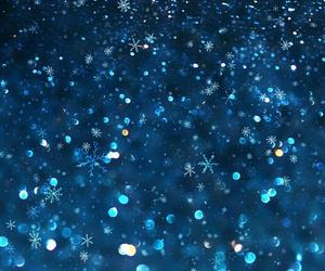 snow, blue, and christmas image