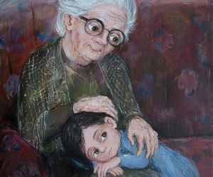 art, painting, and grandmother image
